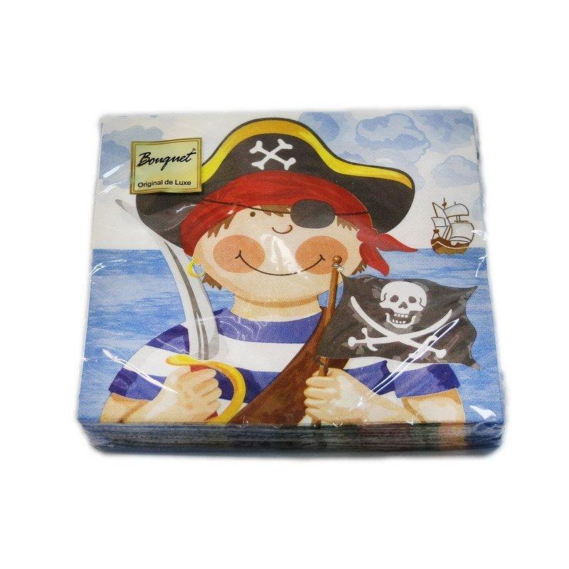 """Салфетки 33х33см, 2 сл., """"Маленькие пираты"""", бум., 20 шт"""