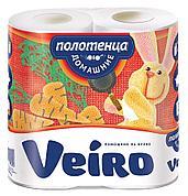 Полотенца бумажные 2сл. 2 рул. VEIRO Домашние , 2 шт