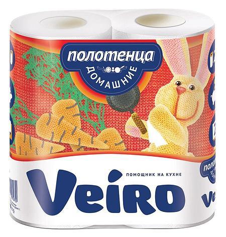 Полотенца бумажные 2сл. 2 рул. VEIRO Домашние , 2 шт, фото 2