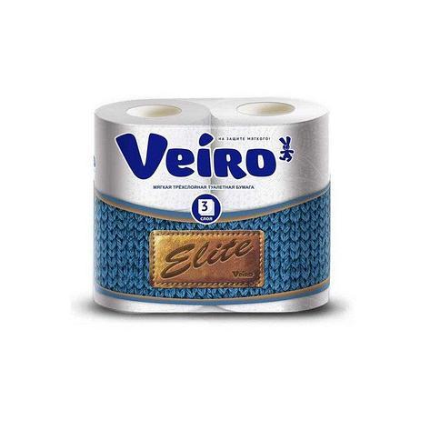 Бумага туалетная 3сл. 4шт. VEIRO Elite , 4 шт, фото 2