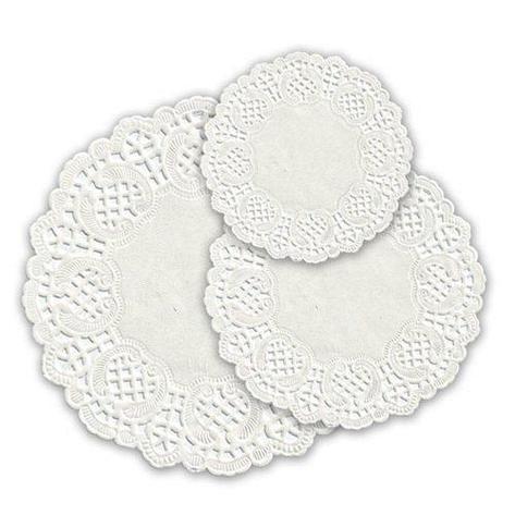 Салфетки серв. d 20см(внутр-12см), бел. бум., фото 2