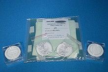 Мембрана гидрофобная микрофильтрационная МФФК фторопластовая, d=47 мм, d пор-0,45 мкм, (уп.200 шт, 50 шт)