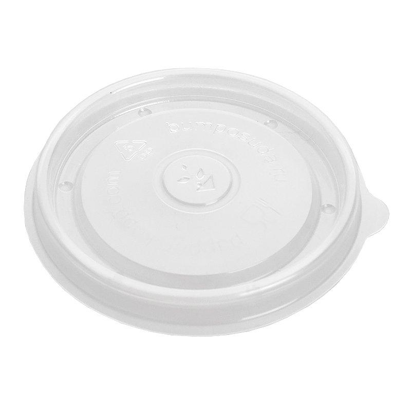 Крышка для контейнера 300мл с круглым дном прозрачная PP, 500 шт