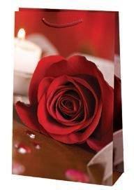 "Пакет ламин. 15х23х6см, ""Роза"", бум., 10 шт"
