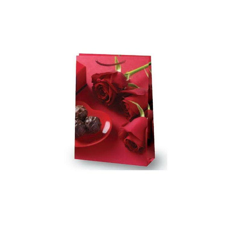 "Пакет ламин. 25х35х9см ""Розы и шоколад""  , бум., 10 шт"