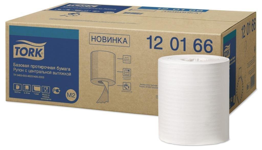 Базовая протирочная бумага Tork Universal в мини рулоне с центр. вытяжкой, 1 сл., бел., бум., 275 м/рул.