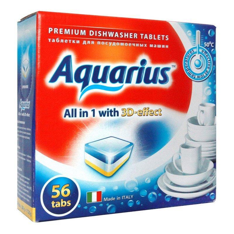 Таблетки для ПММ Aquarius All in1 mega (56 табл.), 56 шт