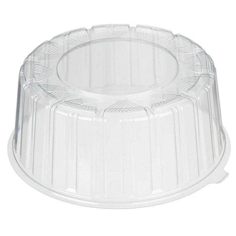 Крышка кругл. торт. 1 кг, внешн. d-246мм, h-105мм, внутр. d-220мм, h-95мм, прозрачная, ОПС, 170 шт