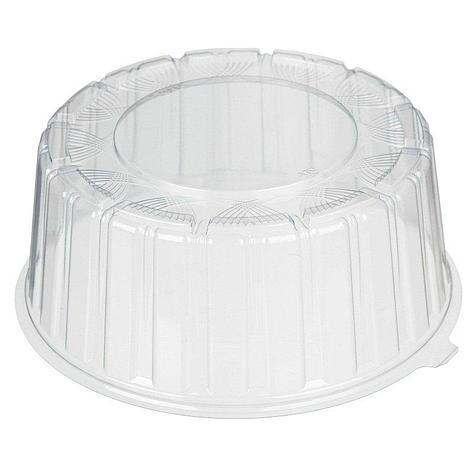 Крышка кругл. торт. 1 кг, внешн. d-246мм, h-105мм, внутр. d-220мм, h-95мм, прозрачная, ОПС, 170 шт, фото 2