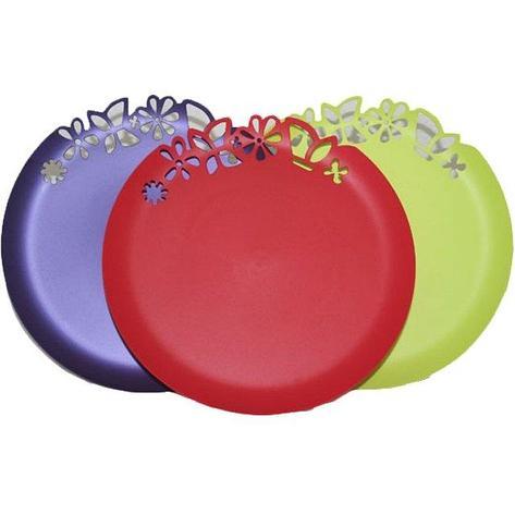 Блюдо  с ажурным краем, цвета в ассортименте, 273 мм, ПП, фото 2