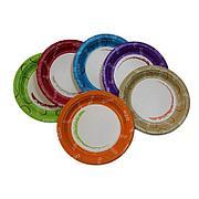 """Тарелка d 230мм, """"Enjoy"""", mix 6 цветов, картон, 1000 шт"""