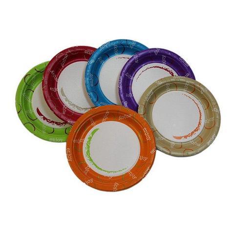 """Тарелка d 230мм, """"Enjoy"""", mix 6 цветов, картон, 1000 шт, фото 2"""