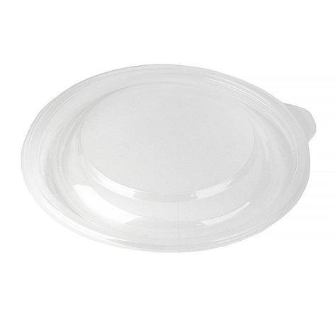 Крышка круглая d-144мм, h-17мм, прозрачн, ПП, 300 шт, фото 2