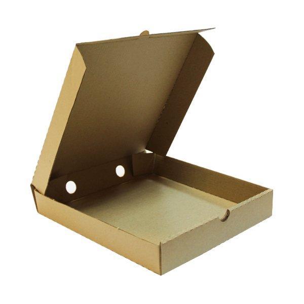 Коробка д/пиццы, 250х250х40мм, бурая., микрогофрокартон Е, 50 шт