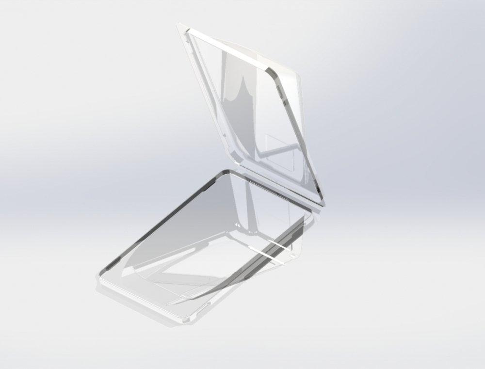 Упаковка д/роллов, 0.4л, прямоуг.,160х115х48мм, прозрачн., ПЭТ, 500 шт