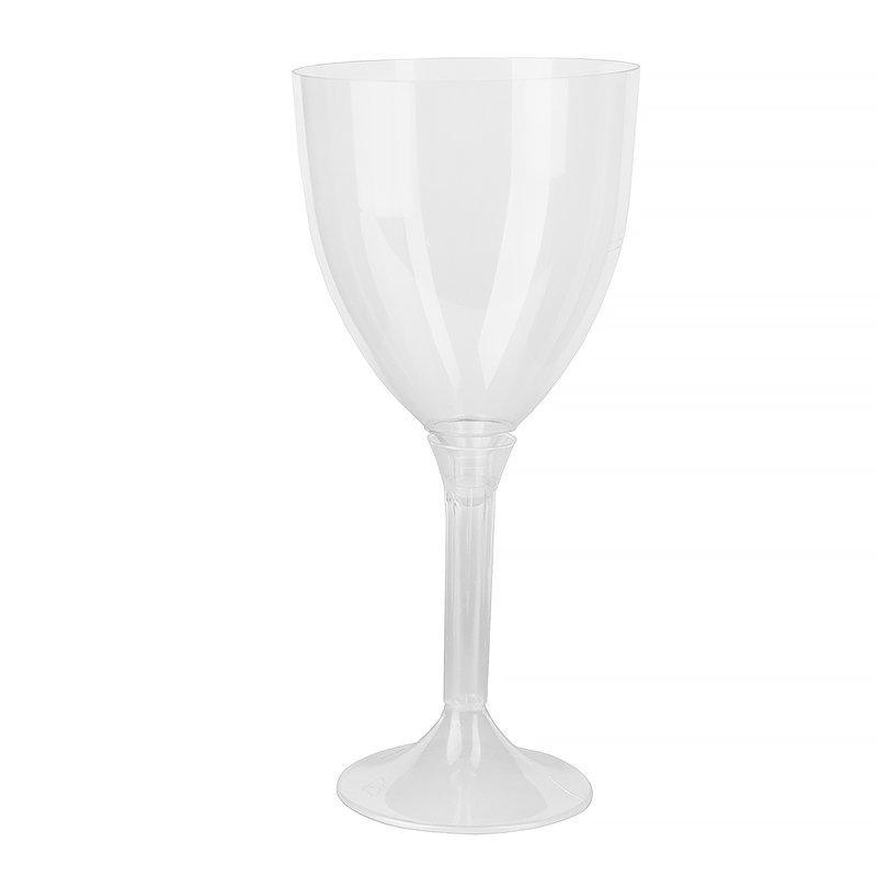 Бокал д/вина, 0.25л, h 180мм, (на высокой ножке), прозрачн., ПС, 100 шт