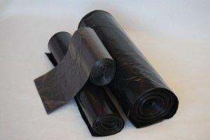 Мешок д/мусора 180л 70(+20)х110см  ПВД черный, 10 шт/рул., 40 мкм