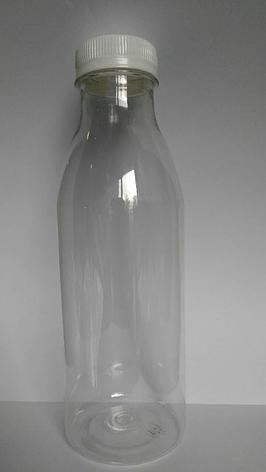 ПЭТ бутылка прозрачн., 0.5 л, h 203 мм, с крышкой, широкое горло, 100 шт, фото 2