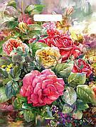"Пакет (мешок) проруб. ПВД 450х380мм, 60мкм, ""Розы на холсте"", 50 шт"