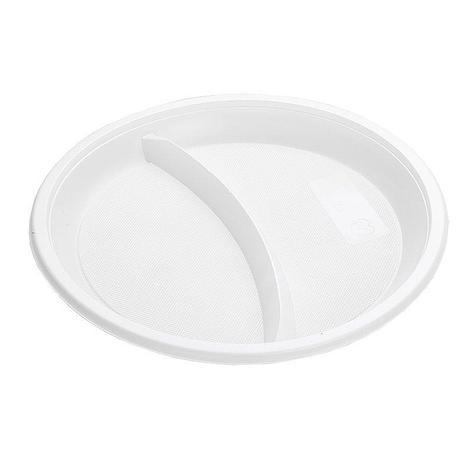Тарелка 2-секции d 210мм, белая, 12 шт, фото 2