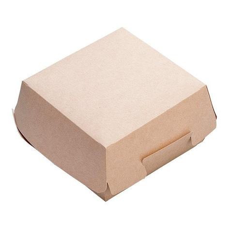 Коробка д/бургера ECO BURGER M крафт внутр 100х100х60мм (верх 115х115мм), 150 шт, фото 2