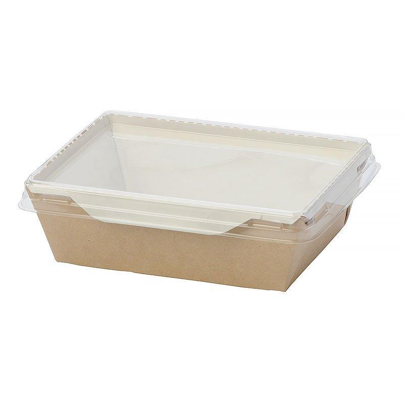 "Коробка ""DoEco"" 150х150х50мм ECO OpSalad 900, (Салатник), коричн. , 150 шт"