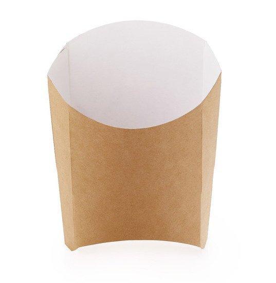 Коробка д/картоф фри ECO FRY L крафт 50х126х135мм, 1000 шт