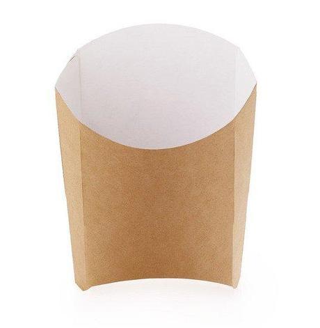 Коробка д/картоф фри ECO FRY L крафт 50х126х135мм, 1000 шт, фото 2