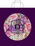 """Пакет (мешок) петля ПВД 43,5х40см, 35мкм, """"Розы винтаж"""", 50 шт"""