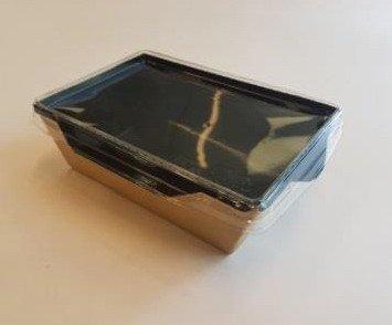 """Коробка """"DoEco"""" 165х120х45мм ECO OpSalad 500 Black Edition, (Салатник), коричн./черный, 300 шт"""
