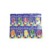 """Свеча для торта  цифра 4 """"Волна"""" цвет в ассортименте вес 15г d 9*5мм"""