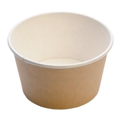Контейнер под суп картон, d-121, чаша 500 мл, крафт, 500 шт, фото 2