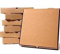 Коробка д/пиццы 190x190x40мм, микрогофрокартон, бурая Е, 50 шт
