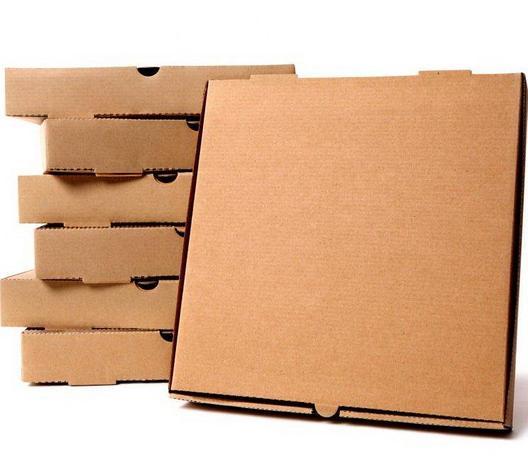 Коробка д/пиццы 190x190x40мм, микрогофрокартон, бурая, 50 шт, фото 2