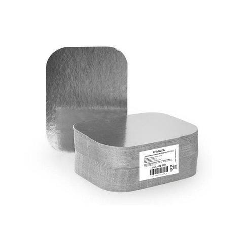 Крышка 120х93мм, картонно-алюмин., 1500 шт, фото 2