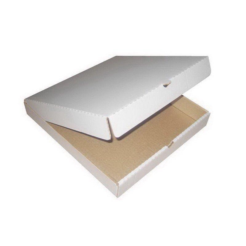 Коробка д/пиццы  с логотипом Pizzamania, 420х420х40мм, бел./бур., микрогофрокартон., 50 шт