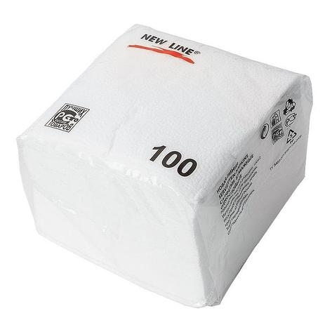 Салфетки 24х24см, 1 сл., в ПЭ упаковке, бел., бумага, 100 шт/уп, 100 шт, фото 2