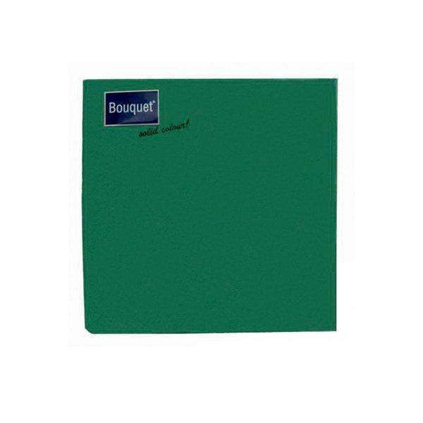 Салфетки 33х33см, 3 сл., зелён., Бумага, 20 шт