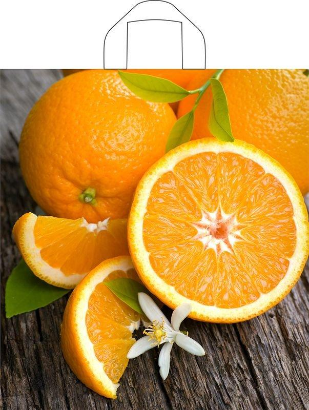 "Пакет (мешок) петля ПВД 43,5х40см, 35мкм, ""Свежий апельсин"", 50 шт"