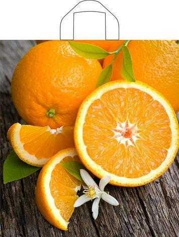 "Пакет (мешок) петля ПВД 43,5х40см, 35мкм, ""Свежий апельсин"", 50 шт, фото 2"