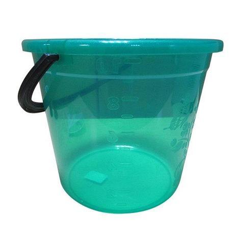 Ведро 10 л круглое пластиковое, цвет в ассортименте мерное, фото 2
