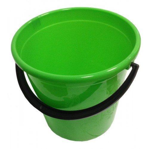Ведро 10 л круглое пластиковое, цвет в ассортименте