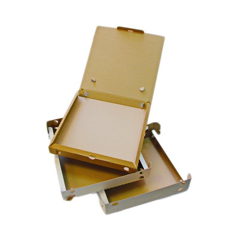 Коробка д/пиццы Трансформер (Итальянская) ДНО, 323х323х35мм, бел., микрогофрокартон., 100 шт