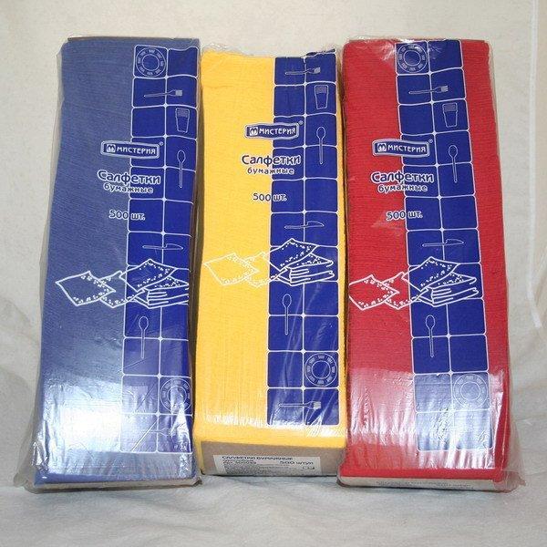 "Салфетки 24х24см, 1 сл., жёлт., Бумага, (500л) ""Big Pack"" , 500 шт"