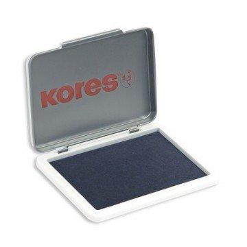 Подушка штемпельная настольная КORES синяя 7х11см метал.