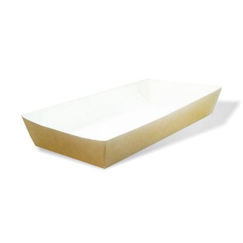 Лоток(коробка) для фаст-фуда 180х80х30мм крафт без печати, 220 шт, фото 2