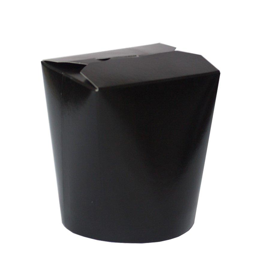 Коробка д/лапши картонная ЧЕРНЫЙ,  картон 500 мл, 480 шт