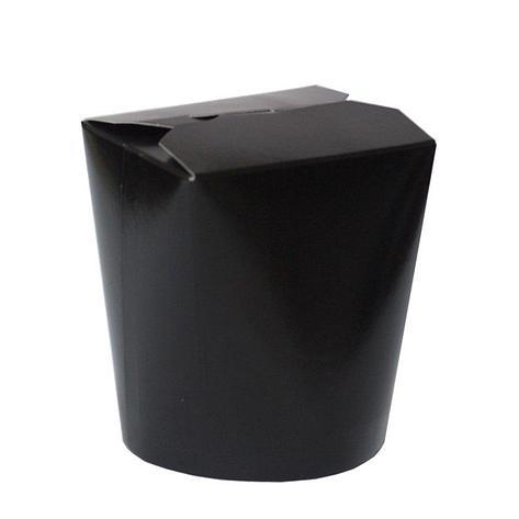 Коробка д/лапши картонная ЧЕРНЫЙ,  картон 500 мл, 480 шт, фото 2