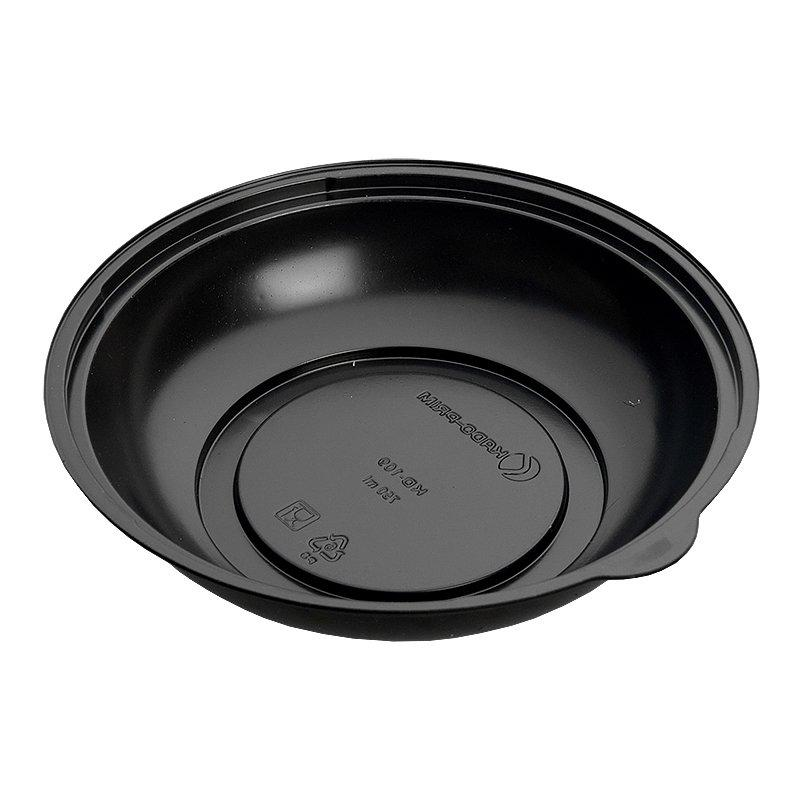 Контейнер для салатов, кругл., d 203 мм, h 50 мм, 750 мл, черн., ПС, 400 шт