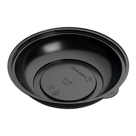 Контейнер для салатов, кругл., d 203 мм, h 50 мм, 750 мл, черн., ПС, 400 шт, фото 2